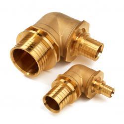 elbow 125mm brass
