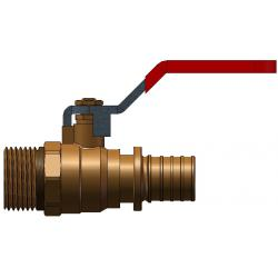 Ball valve part with outside thread