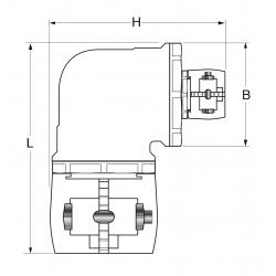 Elbow 90° reducer Clamp