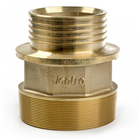 Brass fitting adapter with male thread